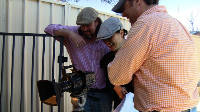 With Director Clara Chong and Producer Reinhold Habeler while Super Slow Mo records from the buffer.  Photo by Tim Cant.