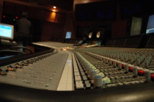 SSL9000 Large Mixing Desk with Automation. [photo by Marconcini Patrick]
