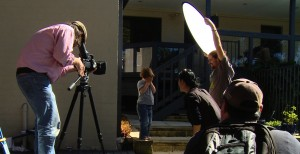 Filming flashbacks on Day 2