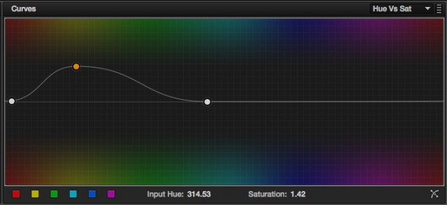 A Hue Vs Sat curve to boost the colour of the sand.