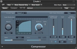 The Compressor for the main Voice Over