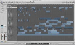 The OMF from Final Cut Pro open in Logic Pro