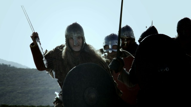 A viking shot with the real sky.