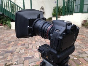 Samyang 24mm Cine with lightweight clamp-on mattebox.